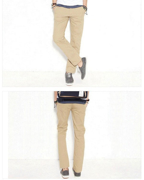 Men's Stylish Straight Slim Fit Casual Trousers - Stylish Pants - eDealRetail - 10