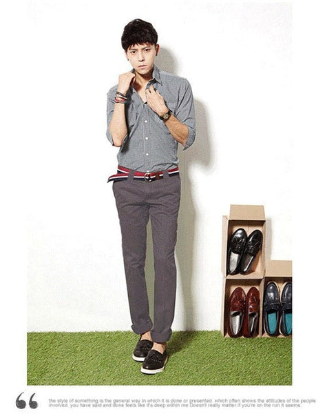 Men's Stylish Straight Slim Fit Casual Trousers - Stylish Pants - eDealRetail - 11