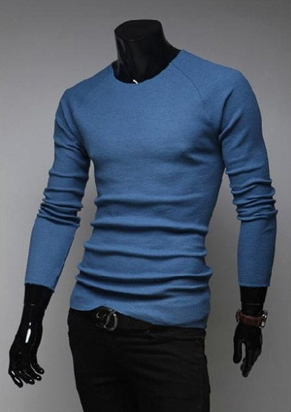 Slim O-Neck Long-Sleeve Sweater - sweater - eDealRetail - 6
