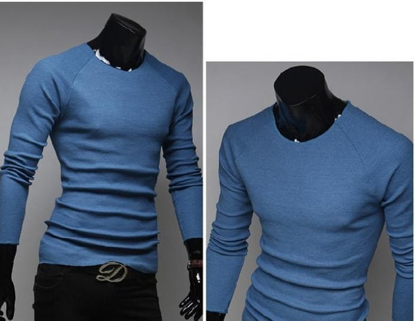 Slim O-Neck Long-Sleeve Sweater - sweater - eDealRetail - 8