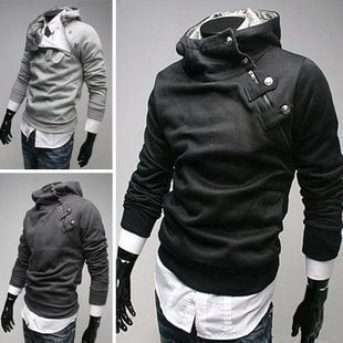 2016 High Collar Dust Coat Hoodie - Coat Jacket  - eDealRetail - 1