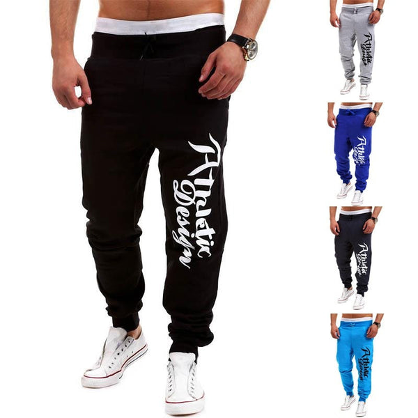 Athletic Design Print Sweatpants - Stylish Pants - eDealRetail - 3