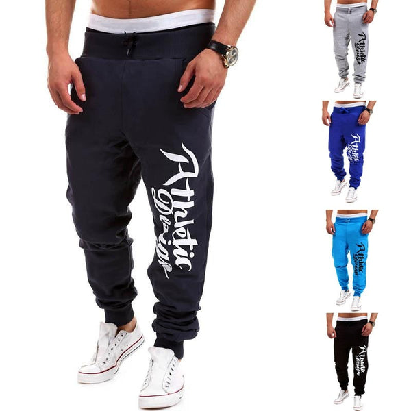 Athletic Design Print Sweatpants - Stylish Pants - eDealRetail - 4