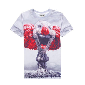 Atomic Bomb Clown Face Printed Shirt - 3D T-Shirts - eDealRetail