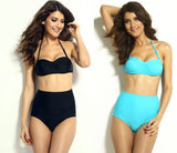 High Waisted Slit Summer Bikinis - Swimsuit - eDealRetail - 2
