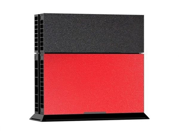 Black/Red Leather Print PS4 Skin + 2 Controller Skins - PS4 Skins - eDealRetail - 2