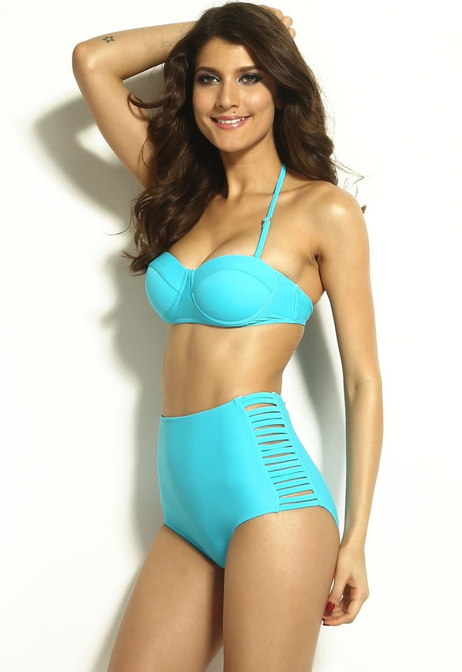 High Waisted Slit Summer Bikinis - Swimsuit - eDealRetail - 8