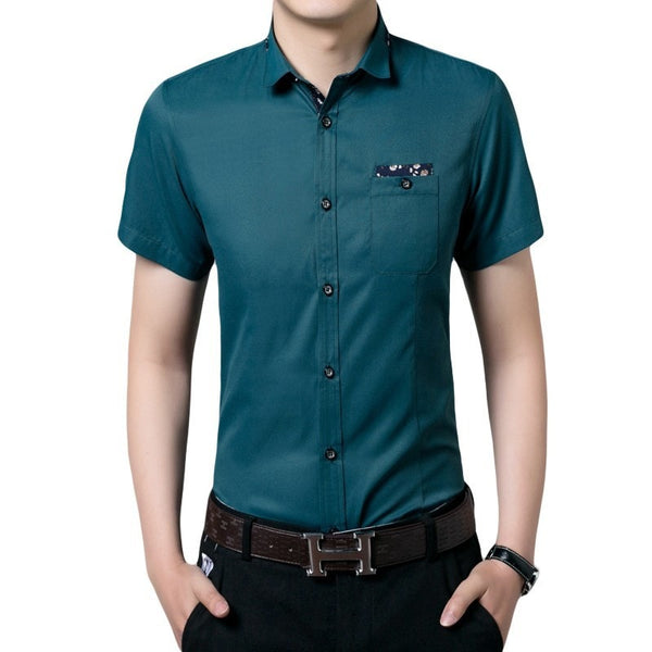 Casual Short Sleeve Collar Shirts - Casual Shirts - eDealRetail - 2