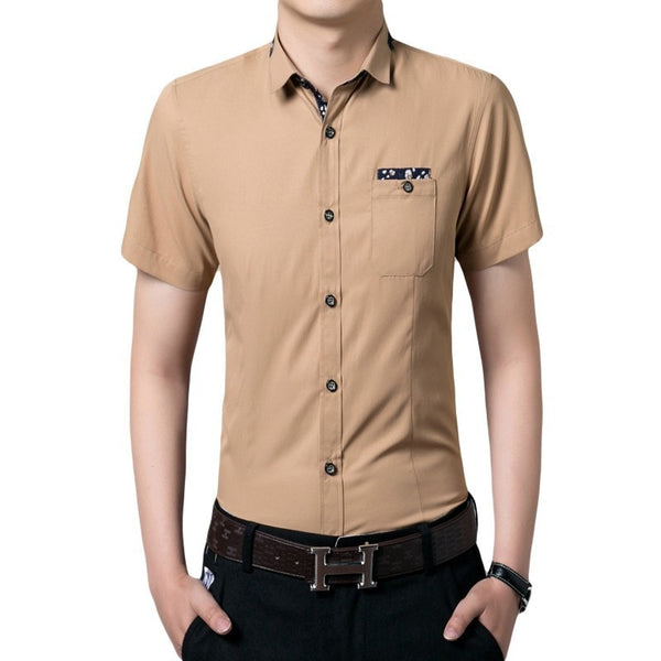 Casual Short Sleeve Collar Shirts - Casual Shirts - eDealRetail - 1