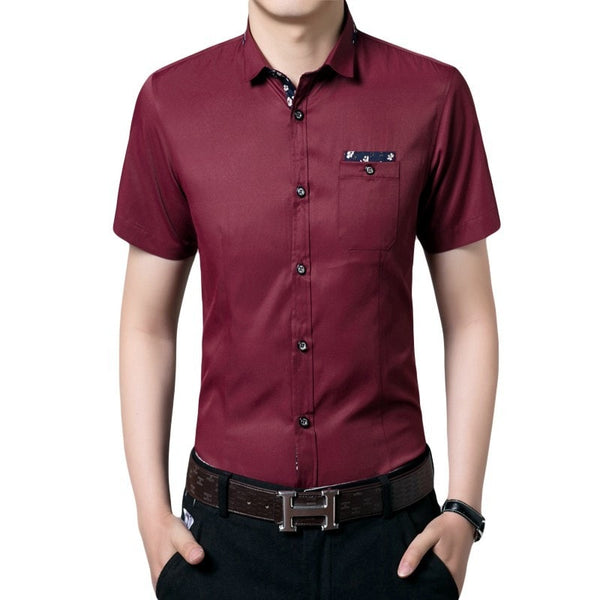 Casual Short Sleeve Collar Shirts - Casual Shirts - eDealRetail - 3
