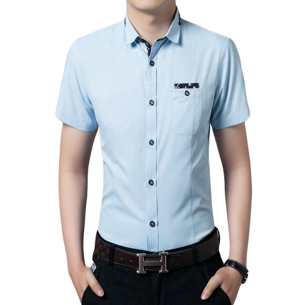 Casual Short Sleeve Collar Shirts - Casual Shirts - eDealRetail - 4