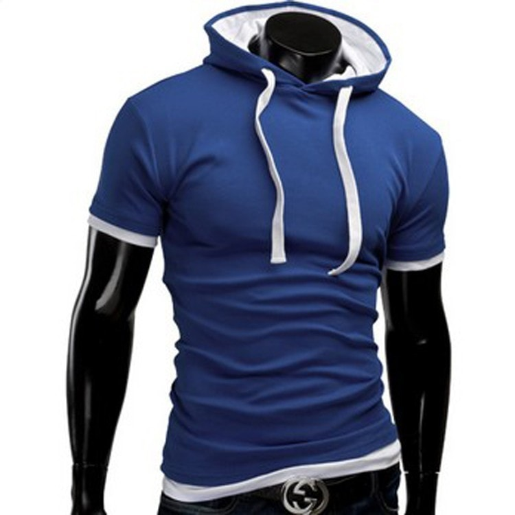 Casual Short Sleeved Hoodie T-Shirts - Casual Shirts - eDealRetail - 10