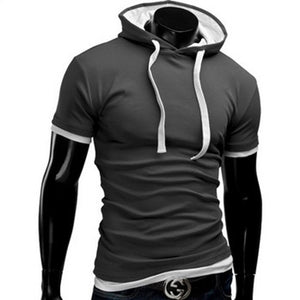 Casual Short Sleeved Hoodie T-Shirts - Casual Shirts - eDealRetail - 11