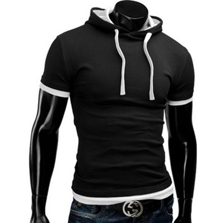 Casual Short Sleeved Hoodie T-Shirts - Casual Shirts - eDealRetail - 1