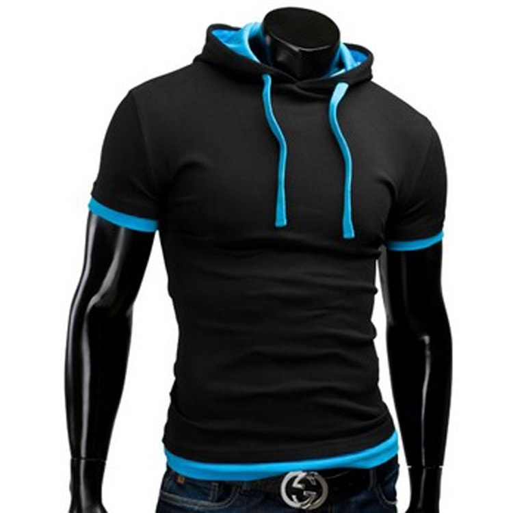 Casual Short Sleeved Hoodie T-Shirts - Casual Shirts - eDealRetail - 2