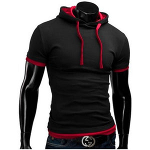 Casual Short Sleeved Hoodie T-Shirts - Casual Shirts - eDealRetail - 3