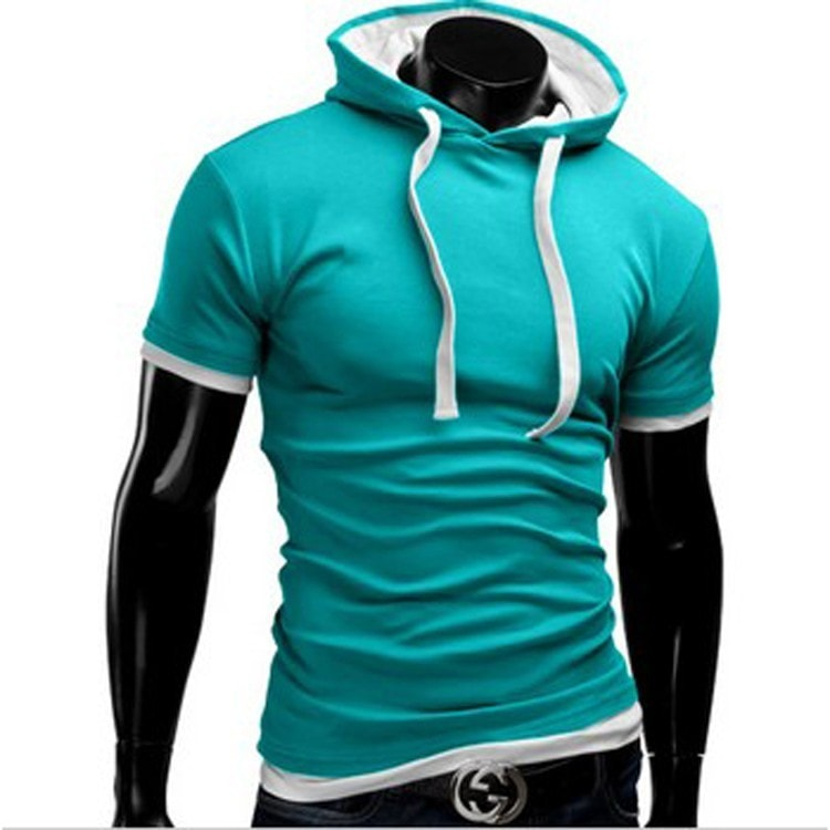 Casual Short Sleeved Hoodie T-Shirts - Casual Shirts - eDealRetail - 5