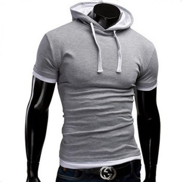 Casual Short Sleeved Hoodie T-Shirts - Casual Shirts - eDealRetail - 6