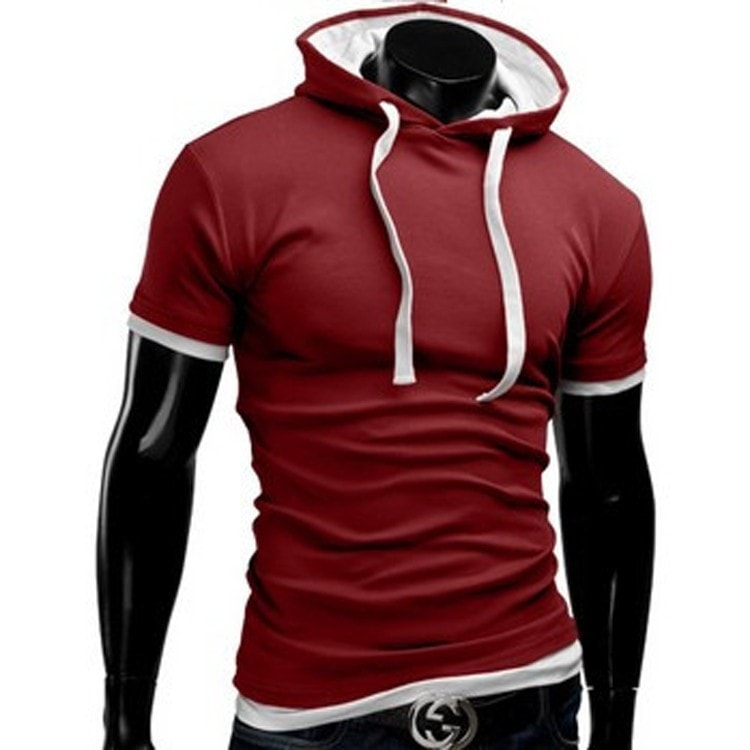 Casual Short Sleeved Hoodie T-Shirts - Casual Shirts - eDealRetail - 7