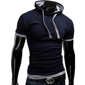 Casual Short Sleeved Hoodie T-Shirts - Casual Shirts - eDealRetail - 8