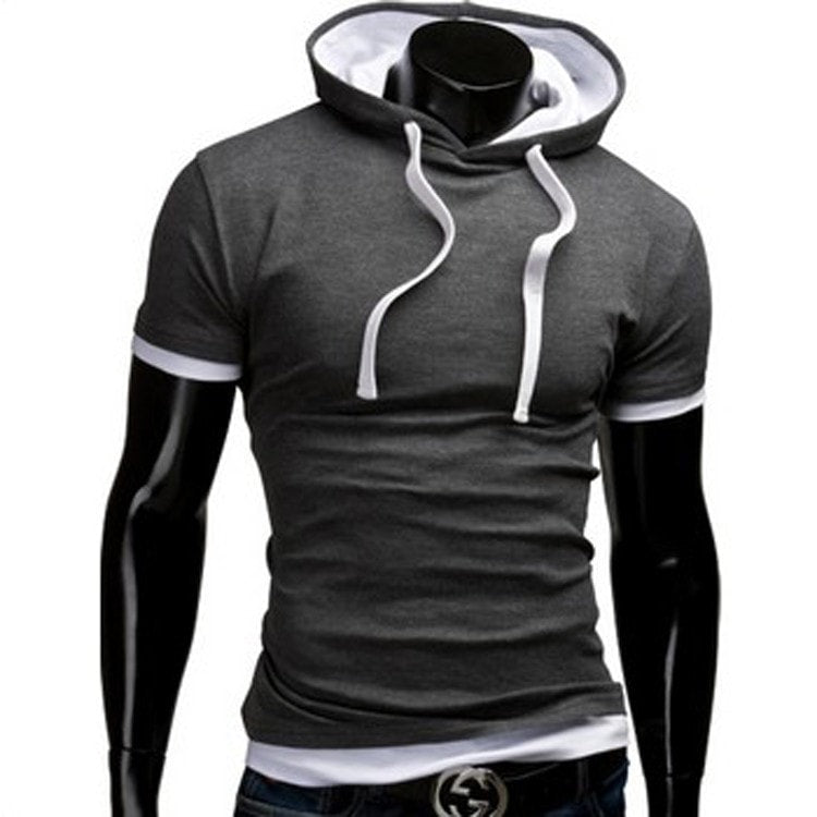 Casual Short Sleeved Hoodie T-Shirts - Casual Shirts - eDealRetail - 9
