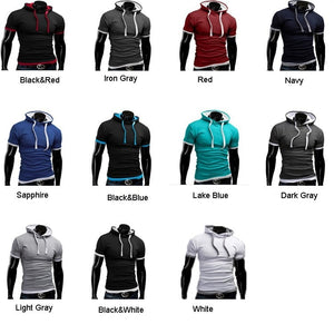 Casual Short Sleeved Hoodie T-Shirts - Casual Shirts - eDealRetail - 12