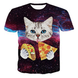 Cat Eating Food 3D Print Shirt - 3D T-Shirts - eDealRetail - 1