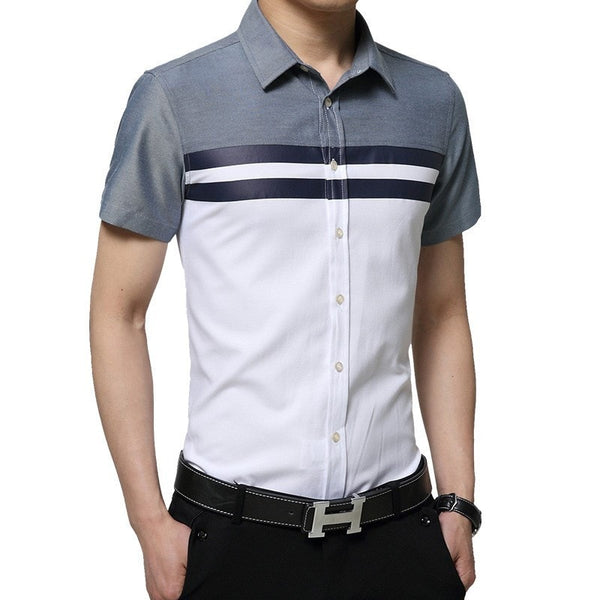 2016 Color Block Striped Shirts - Casual Shirts - eDealRetail - 2