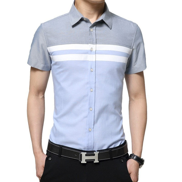 2016 Color Block Striped Shirts - Casual Shirts - eDealRetail - 6