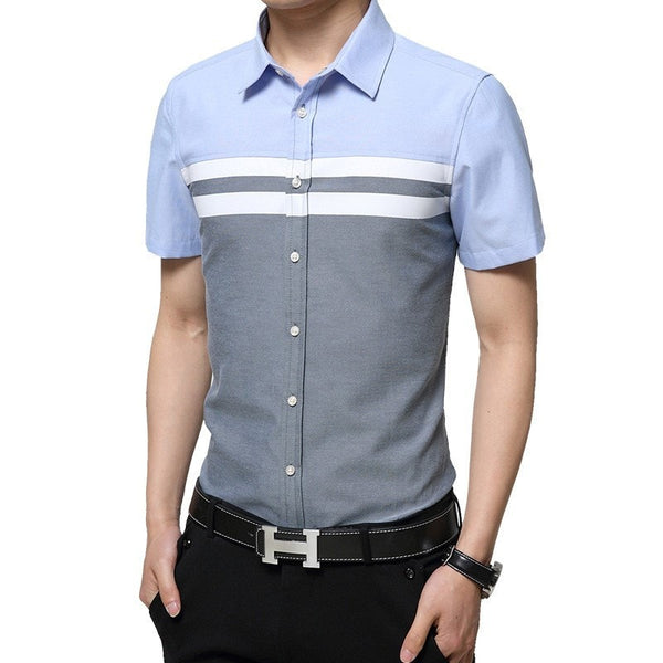 2016 Color Block Striped Shirts - Casual Shirts - eDealRetail - 4
