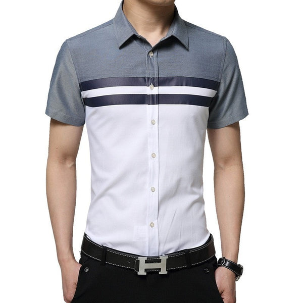 2016 Color Block Striped Shirts - Casual Shirts - eDealRetail - 1