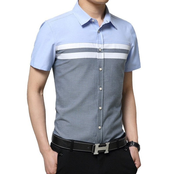 2016 Color Block Striped Shirts - Casual Shirts - eDealRetail - 5