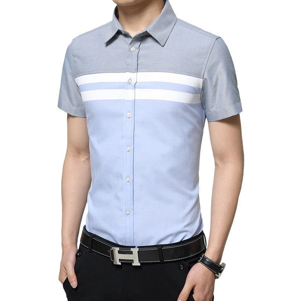 2016 Color Block Striped Shirts - Casual Shirts - eDealRetail - 7