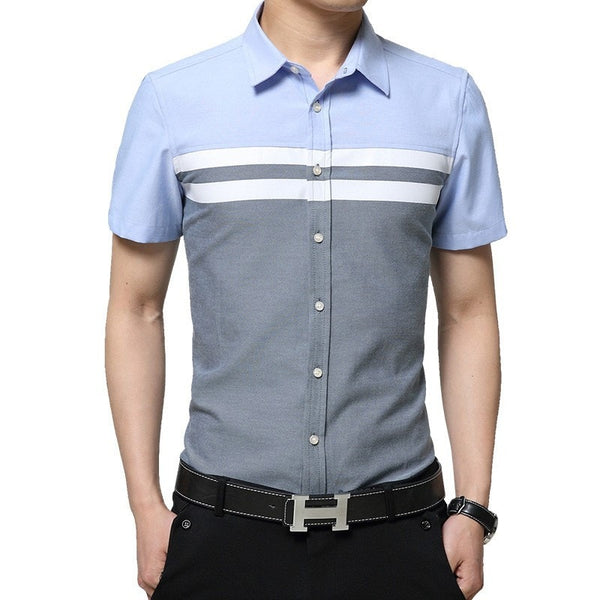 2016 Color Block Striped Shirts - Casual Shirts - eDealRetail - 3