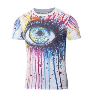 Colorful Big Eye Print T-Shirt - 3D T-Shirts - eDealRetail