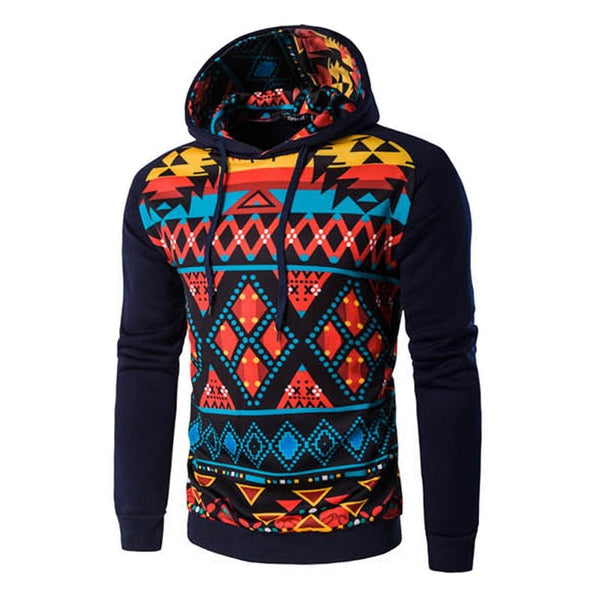 Colorful Geometric Print Hoodie - Hoodies - eDealRetail - 8
