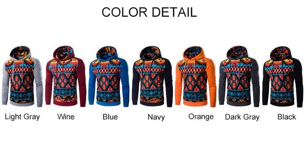 Colorful Geometric Print Hoodie - Hoodies - eDealRetail - 11