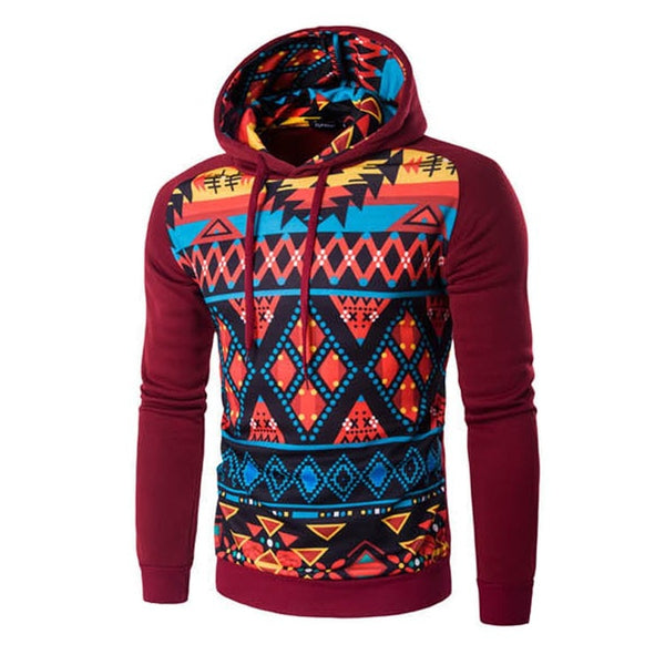 Colorful Geometric Print Hoodie - Hoodies - eDealRetail - 3