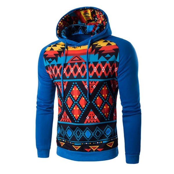 Colorful Geometric Print Hoodie - Hoodies - eDealRetail - 4
