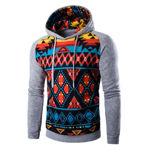 Colorful Geometric Print Hoodie - Hoodies - eDealRetail - 5