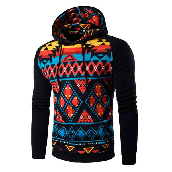 Colorful Geometric Print Hoodie - Hoodies - eDealRetail - 6