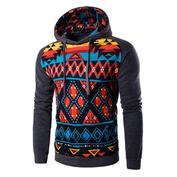 Colorful Geometric Print Hoodie - Hoodies - eDealRetail - 7