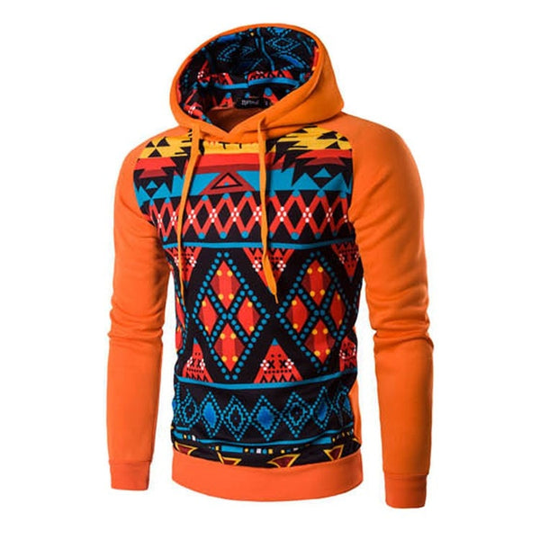 Colorful Geometric Print Hoodie - Hoodies - eDealRetail - 2