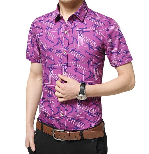 Colorful Short Sleeve Summer Shirts - Casual Shirts - eDealRetail - 5