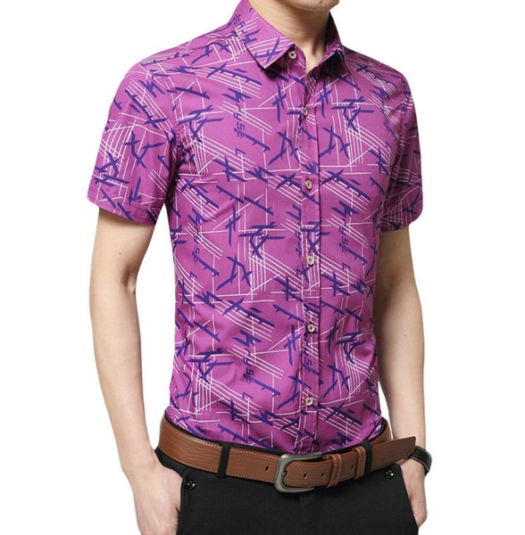 Colorful Short Sleeve Summer Shirts - Casual Shirts - eDealRetail - 4