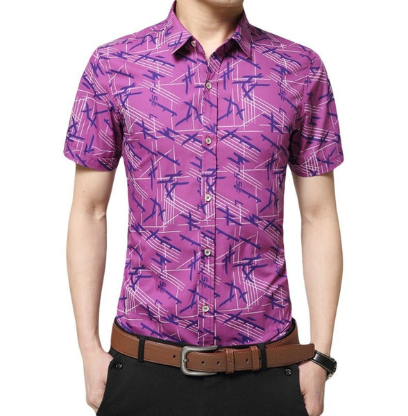 Colorful Short Sleeve Summer Shirts - Casual Shirts - eDealRetail - 3