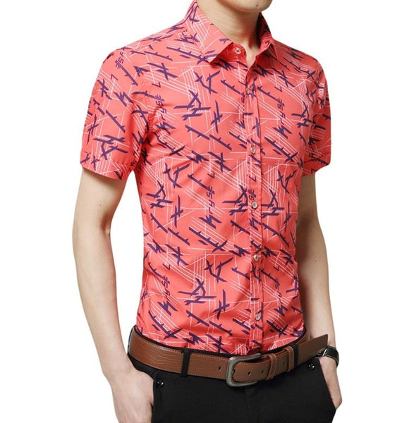 Colorful Short Sleeve Summer Shirts - Casual Shirts - eDealRetail - 6