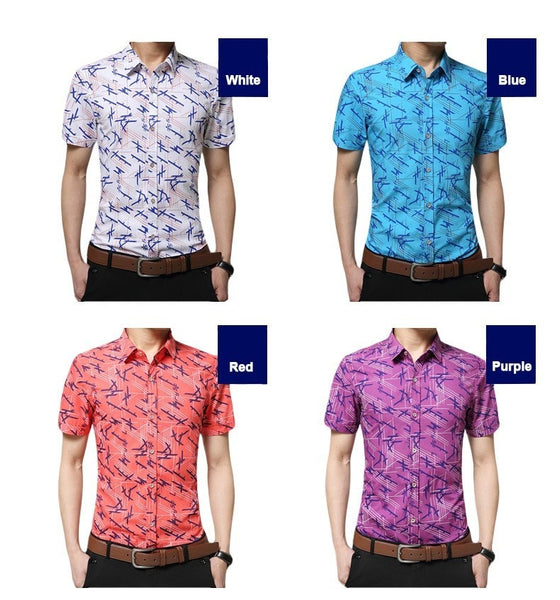 Colorful Short Sleeve Summer Shirts - Casual Shirts - eDealRetail - 10