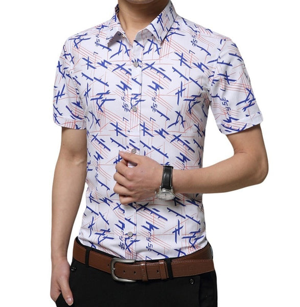 Colorful Short Sleeve Summer Shirts - Casual Shirts - eDealRetail - 8
