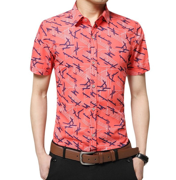 Colorful Short Sleeve Summer Shirts - Casual Shirts - eDealRetail - 7